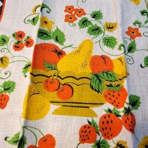 New Vintage Linen Tea Towel Fruit